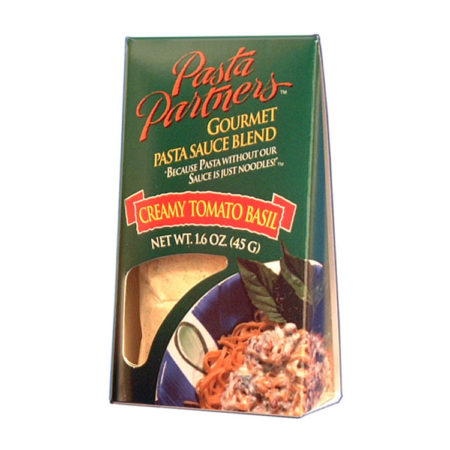 Pasta Partners Tomato Basil Cream Sauce, Plentiful Pantry, Pasta Partners, Chidester Farms, Z'Pasta, Gourmet Food Group, Intermountain Specialty Food Group