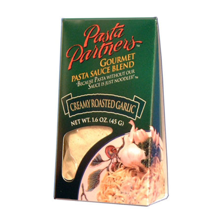 Pasta Partners Creamy Roasted Garlic Sauce, Plentiful Pantry, Pasta Partners, Chidester Farms, Z'Pasta, Gourmet Food Group, Intermountain Specialty Food Group